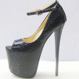 Tour d'orteils haut talon pompes Mesdames sexy de gros de chaussures