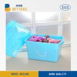 Caixa de armazenamento de plástico barato com tampa para alimentos, ferramentas, roupas