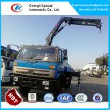 Dongfeng 4X2, смонтированные на грузовиках крана погрузчика с 5 тонн поворотного кулака стрела крана
