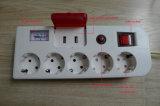 De Europese StandaardContactdoos van de Uitbreiding van de Macht van 5 Manier Elektro (E2205ES)