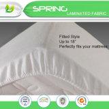Cubierta de colchón impermeable hecha punto acolchada de bambú del pesebre del bebé del paño de Terry