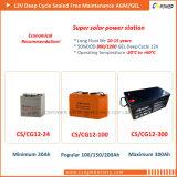 Batterie UPS de cellules solaires 12V100ah pour l'énergie solaire rechargeable