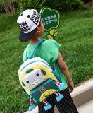 Sacchetto di banco dei bambini dei capretti del poliestere del fumetto con il disegno del robot del fumetto