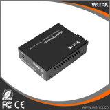 Hochleistungs- 1X Fx - 1X UTP 10/100M Portmedia-Konverter 1550nm Sc 60km