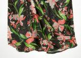 レースカラーV空の緩い袖なしの軽くて柔らかい印刷の夏のキャミソール
