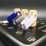 특별한 나무로 되는 모양 회전대 4GB 펜 드라이브 승진 선물 대나무 USB 섬광 드라이브