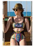 Strandkleding van de Slijtage van de Afrikaanse van Af:drukken Vrouwen Uit één stuk van de Manier Nylon Sexy de Zwemmende