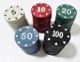 アクリルのCrysalのカジノのポーカー用のチップの正方形および円形