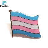Drapeau de l'épinglette transsexuelles transgenres échantillon gratuit de l'épinglette de métal