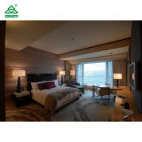 Het moderne Houten vijfsterrenMeubilair van de Slaapkamer van het Hotel, het Eigentijdse Meubilair van de Slaapkamer