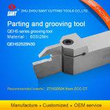 La superficie externa indexable y herramientas de corte (máquina de torno CNC) para ranurar