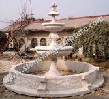 屋外のための切り分けられた石造りの庭の噴水(sk3375)