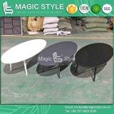 옥외 타원형 탁자 안뜰 타원형 커피용 탁자 현대 알루미늄 탁자 정원 탁자