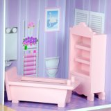 Chambre de poupée en bois rose de jouet de DIY pour des gosses
