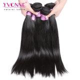 Colore diritto #1b dei capelli umani del Virgin peruviano classico di stile di Yvonne