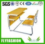 앞치마 교실 가구를 가진 나무로 되는 학교 테이블 의자