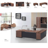 Jogos executivos completos da tabela da mesa de L-Shapesd com jogos de madeira da mobília de escritório do armário do Credenza do gabinete da mesa de centro