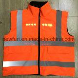 100% полиэстер En 471 высокая видимость светоотражающие трость костюм