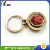 Cadeia de Chaves de metal promocional com o futebol basquetebol