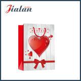Regalos al por mayor del día de tarjeta del día de San Valentín de la promoción pila de discos la bolsa de papel del portador de las compras
