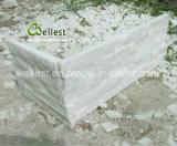 굉장한 백색 벽지를 위한 쪼개지는 규암 문화 선반 돌