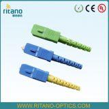 Scapc ficha verde de fibra óptica de alta qualidade com menor perda em 0,15dB