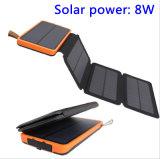 Faltender Solarbewegliche Sonnenenergie-Bank der aufladeeinheits-10000mAh Doppel-USB