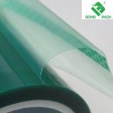 Adhesivo de silicona de alta temperatura de color verde de cintas de Pet