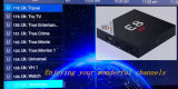 Hot E8 Amlogic S905X Processeurs quatre coeurs plus Evdtv IPTV Plus de 2600 canaux IPTV TV Box