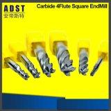 Fresa del carburo di tungsteno del diametro 12mm della scanalatura di marca 4 di Edvt