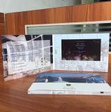 Выдвиженческая визитная карточка бумаги брошюры LCD приглашения поздравительная открытка экрана 7 дюймов видео-