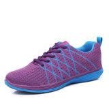 Ботинки женщин спорта сетки Flyknit дешевых оптовых женщин высокого качества Китая идущие