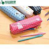 Kundenspezifischer preiswerter Förderung-Polyester-Reißverschluss scherzt Kind-Bleistift-Beutel
