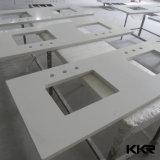 Encimera blanca artificial de la cocina de la piedra del cuarzo