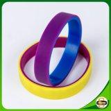 Braccialetto del silicone di marchio stampato alta qualità per attività
