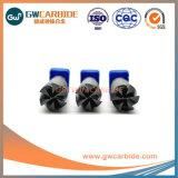 2.5X8X50 HRC45-68の固体炭化物4/6のフルートの平らな端製造所
