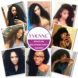 Capelli ricci malesi di estensione dei capelli umani di Remy dei prodotti per i capelli del commercio all'ingrosso dei capelli di Yvonne