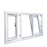 La finestra di alluminio di inclinazione As2047 e di girata con As2208 rimuove il vetro Tempered