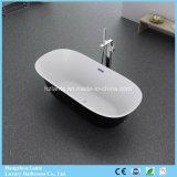 La bañera más nueva de la fibra de vidrio del negro del diseño con los precios baratos (LT-708B)