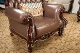 Mobiliário de Casa de luxo vender quente sofá de couro genuíno (169-4)