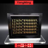 카지노 용과 호랑이 고급 순수한 구리 오락 내기 카드놀이 탁자 한계 표시 (Ym-LC09)