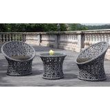 Mobília de alumínio ao ar livre turca do pátio do café com tabela