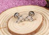 El Punk Estrellas pequeñas Stud Earrings para las mujeres de 3 estrellas boda pendientes Bisutería Boucle d'oreille Femme 2018