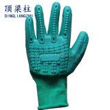 18gスパンデックスは安全作業のための耐衝撃性TPRの手袋を反切った