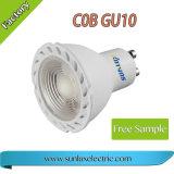 Aluminio de calidad PBT 3W-7W 85V-265V 2700K-6500K 15 grado foco LED GU10