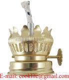 Queimador gêmeo frente e verso da lâmpada de petróleo do querosene do feltro de lubrificação com extintor