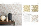 De hexagonale Tegel van het Mozaïek van de Mengeling van het Glas Marmeren Binnenlandse Decoratieve