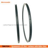 Light Carbon 650b Hookless 27.5 Standard Carbon Xc MTB Rims Tubeless Width 24mm
