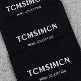Contrassegni d'abbigliamento tessuti neri su ordinazione del collo per gli accessori dell'indumento