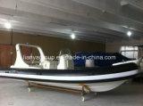 Liya 20 pieds de centre de console de bateau gonflable rigide de côte